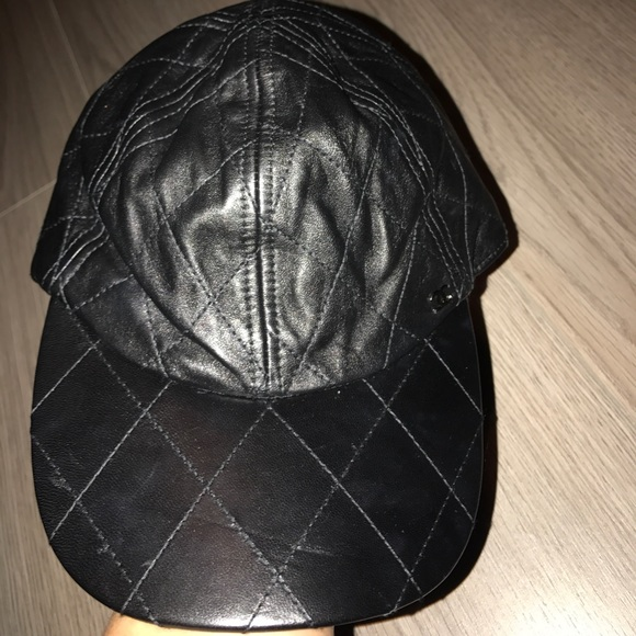 CHANEL Accessories - Chanel leather quilted hat authentic a0daf64db4b